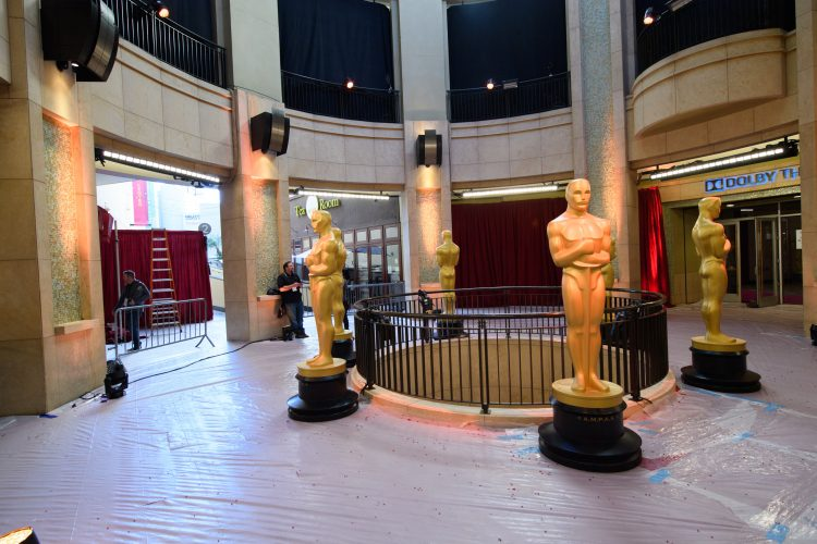 Preparations continue Friday, February 24, 2017 for the 89th Oscars® for outstanding film achievements of 2016 which will be presented on Sunday, February 26, 2017 at the Dolby® Theatre and televised live by the ABC Television Network.