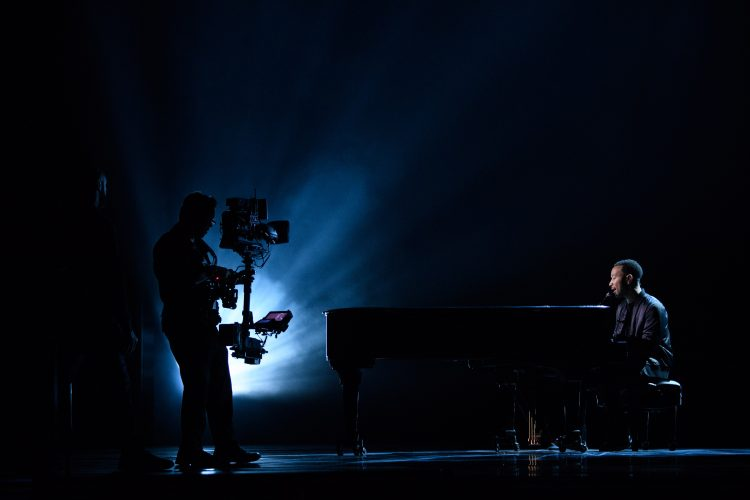 John Legend rehearses, as preparations continue Friday February 24, 2017 for the 89th Oscars® for outstanding film achievements of 2016 which will be presented on Sunday, February 24, 2017, at the Dolby® Theatre and televised live by the ABC Television Network.