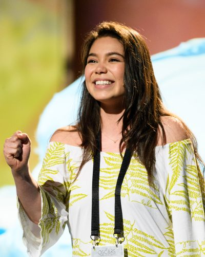 Auli'i Cravalho rehearses, as preparations continue Friday February 24, 2017 for the 89th Oscars® for outstanding film achievements of 2016 which will be presented on Sunday, February 24, 2017, at the Dolby® Theatre and televised live by the ABC Television Network.