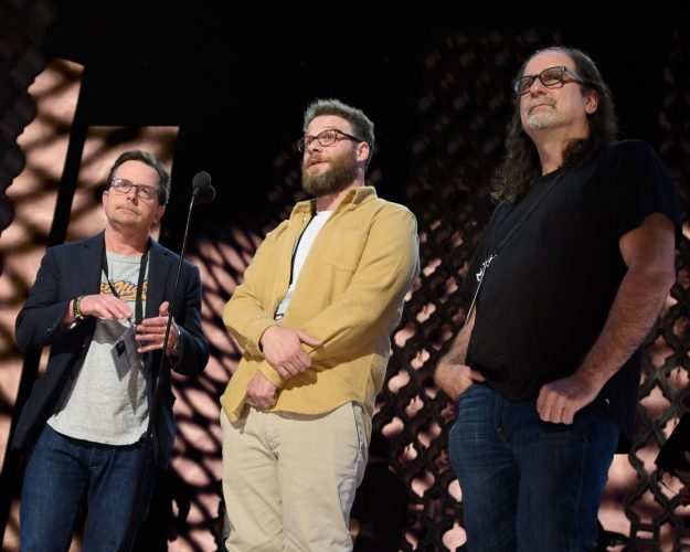 Michael J. Fox, Seth Rogan and director Glenn Weiss rehearse as preparations continue Saturday February 25, 2017 for the 89th Oscars® for outstanding film achievements of 2016 which will be presented on Sunday, February 26, 2017, at the Dolby® Theatre and televised live by the ABC Television Network.