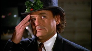 Scrooged Bill  Murray in holiday hat