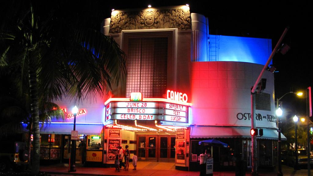 Cinema in South Beach, Miami