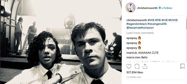 Chris Hemsworth Men in Black Movie Marker